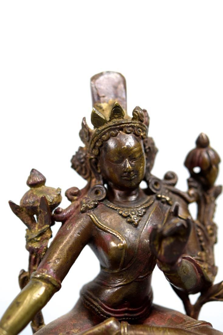 Tibetan Bronze Seated Tara - 2