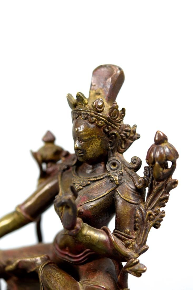 Tibetan Bronze Seated Tara - 6