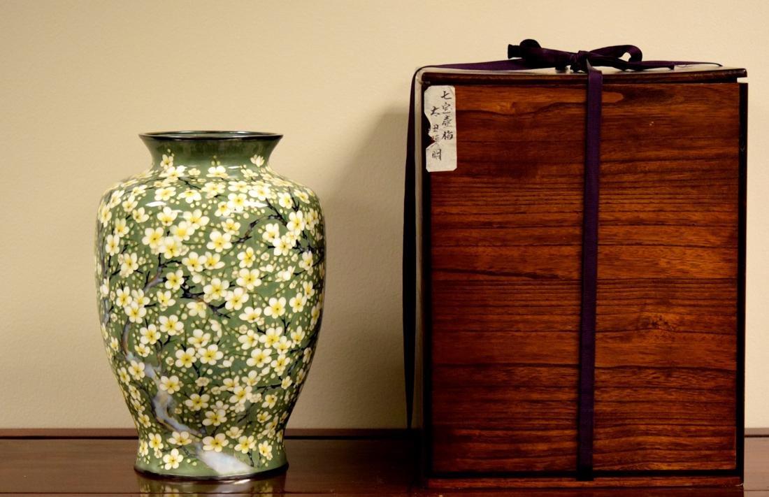 Fine Japanese Cloisonne Vase by Tamura