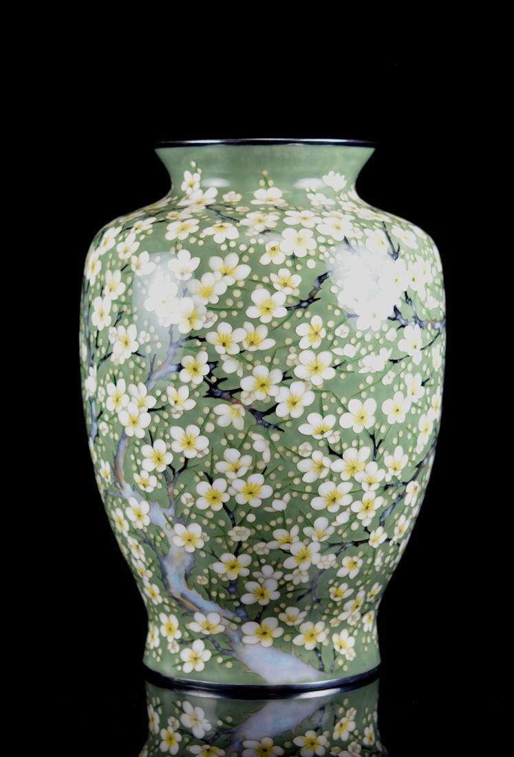 Fine Japanese Cloisonne Vase by Tamura - 3