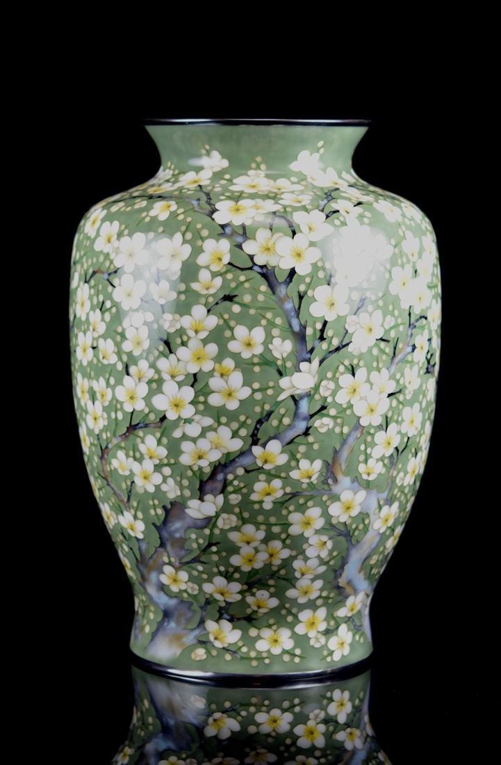 Fine Japanese Cloisonne Vase by Tamura - 4