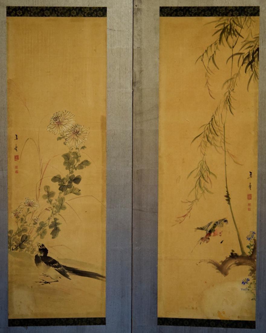 Japanese Six Panel Painting Screen - 5