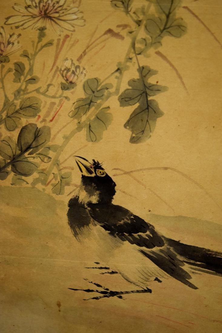 Japanese Six Panel Painting Screen - 6