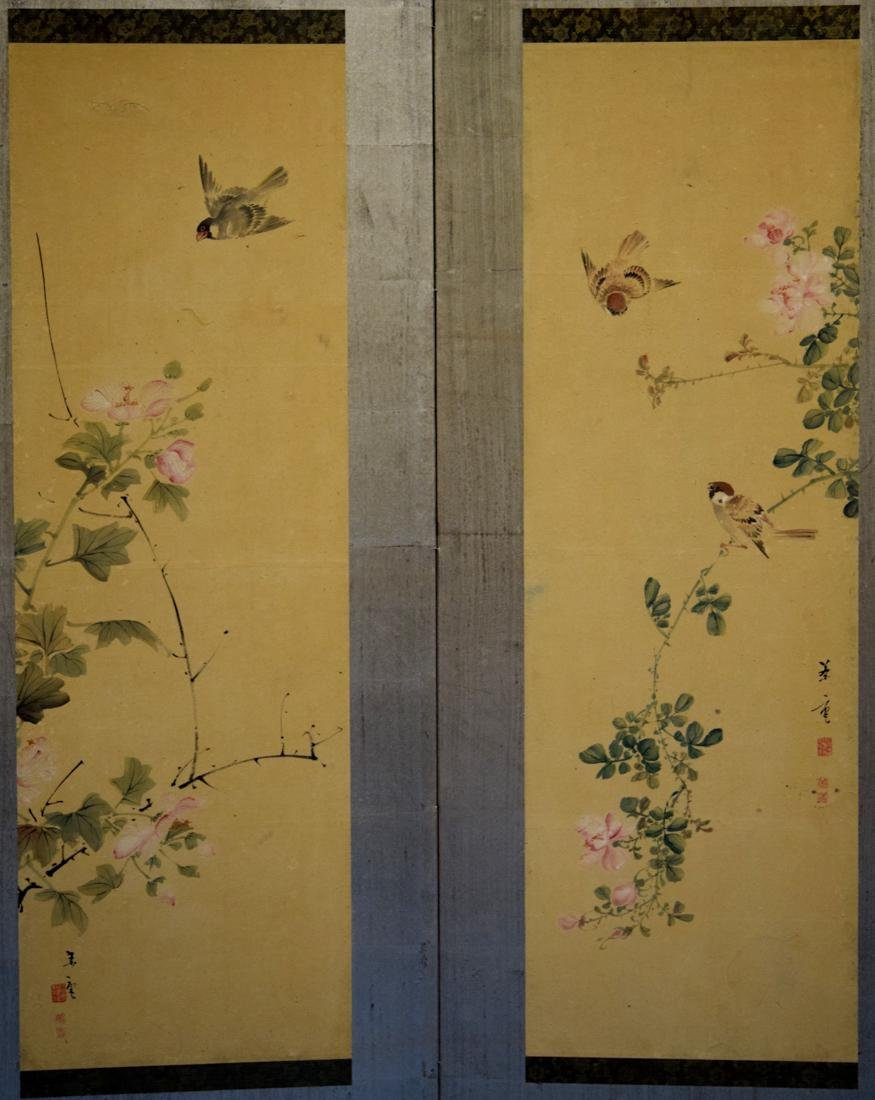Japanese Six Panel Painting Screen - 7