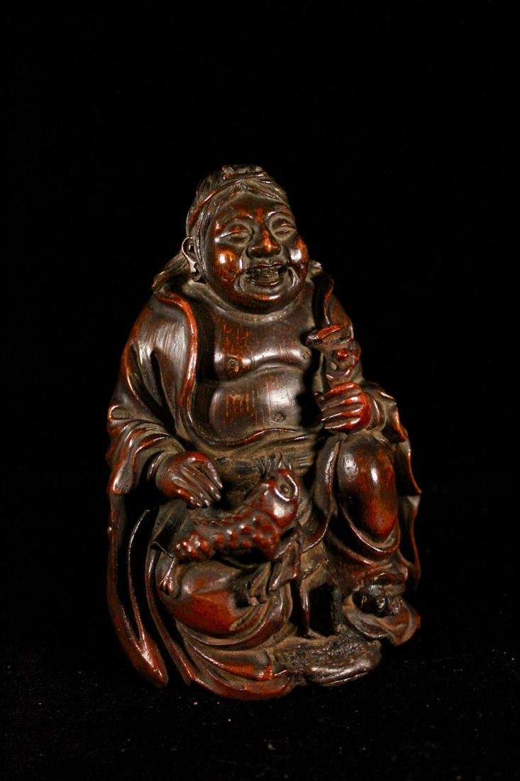 Chinese Bamboo Figurine of Louhai