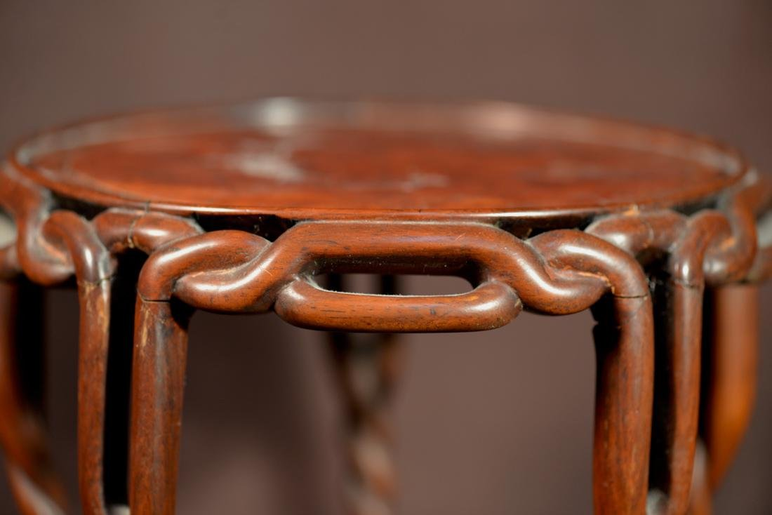 Chinese Rosewood Twrist Rope Scholar Stand - 2