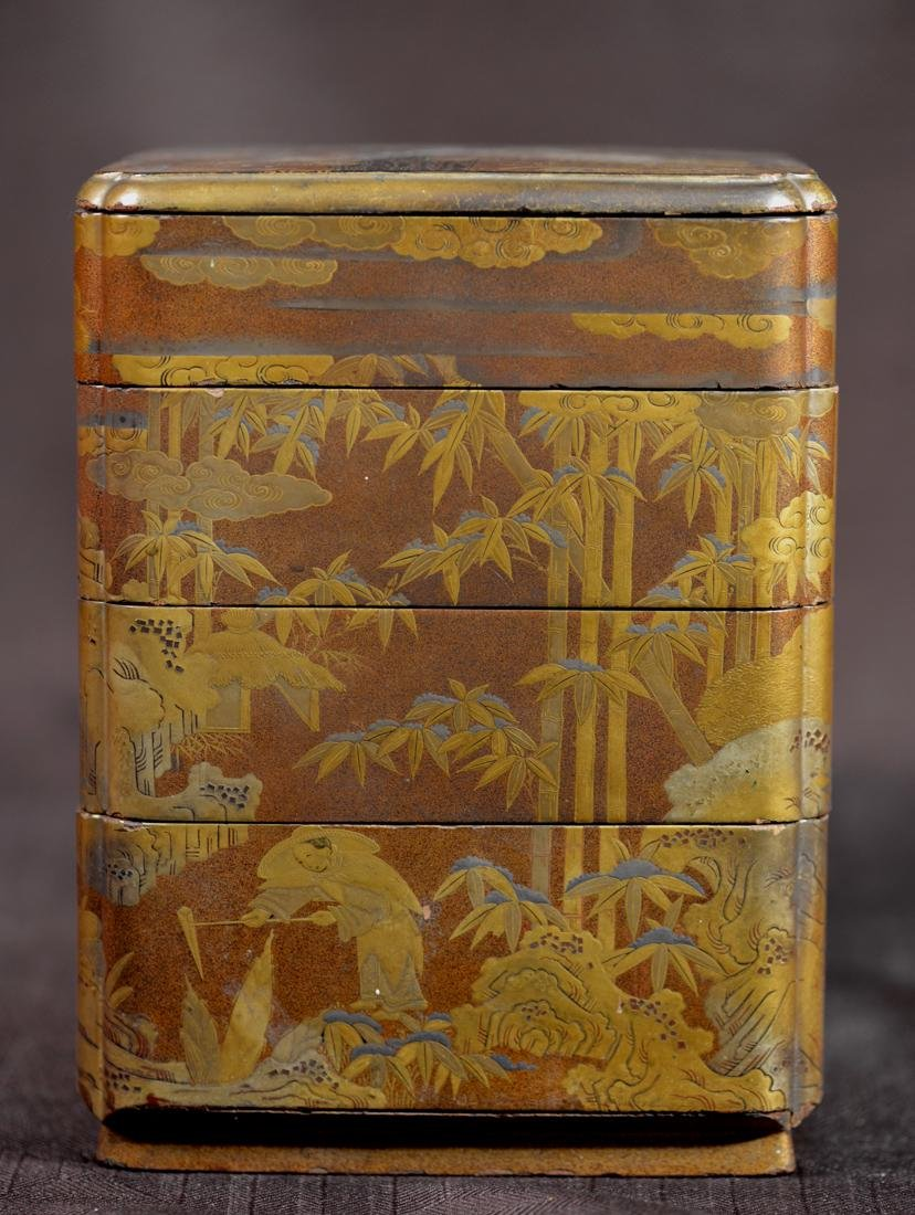 Japanese lacquer Stacked Box - Edo Period
