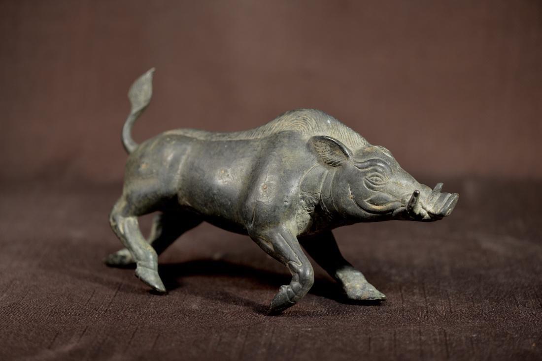 Early Egypt or Greek Bronze Wild Boar