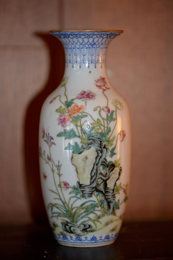 Chinese Republic Period Porcelain Vase with Floral