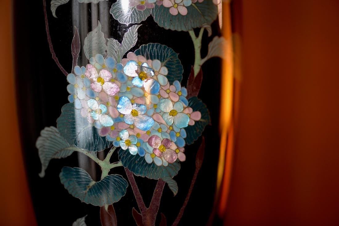 Japanese Cloisonne Vase - Gimbari Hydrea - 2