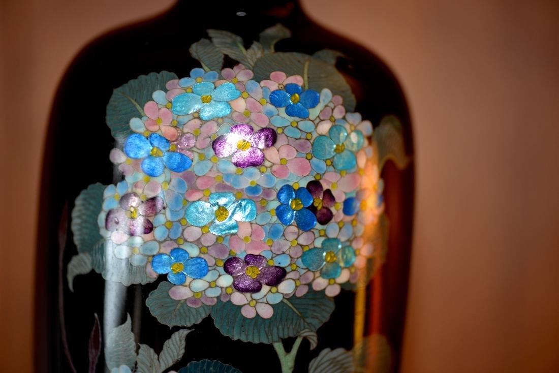 Japanese Cloisonne Vase - Gimbari Hydrea - 3