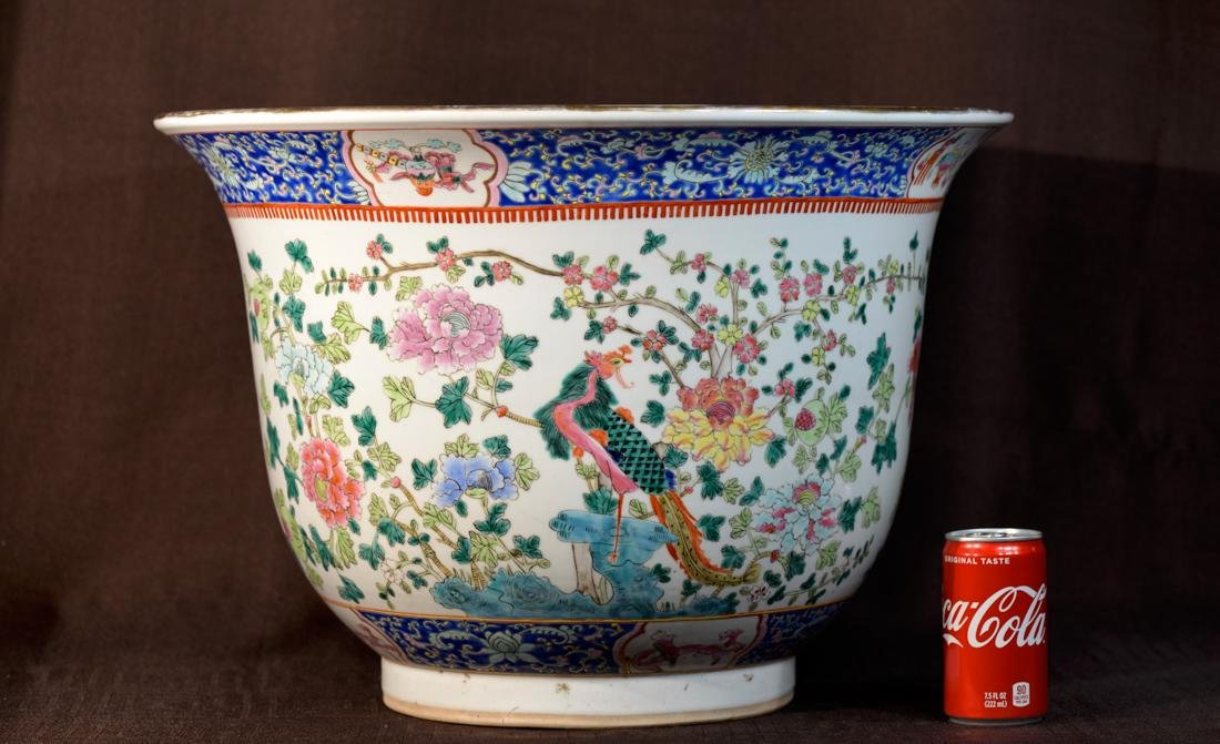 Large Chinese Porcelain Planter