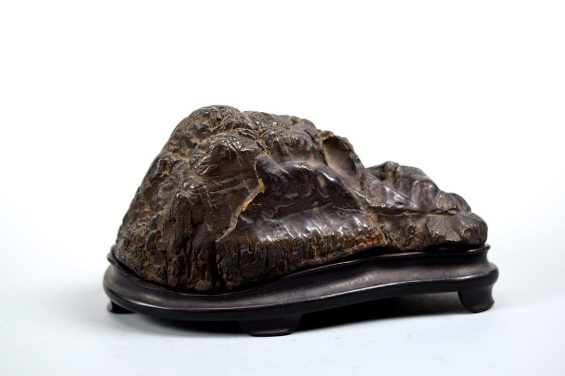 Chinese Scholar Rock with Rosewood Base - 3