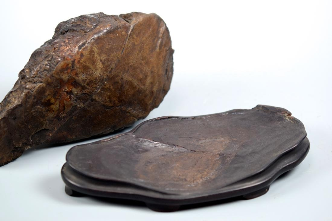 Chinese Scholar Rock with Rosewood Base - 9