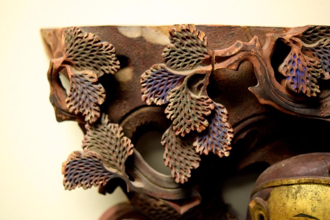 Chinese Wood Figurine with Louhai - 5