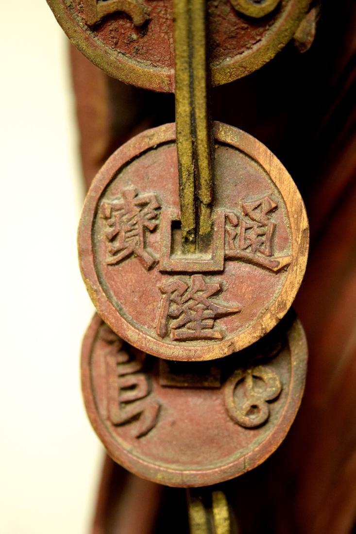 Chinese Wood Figurine with Louhai - 8