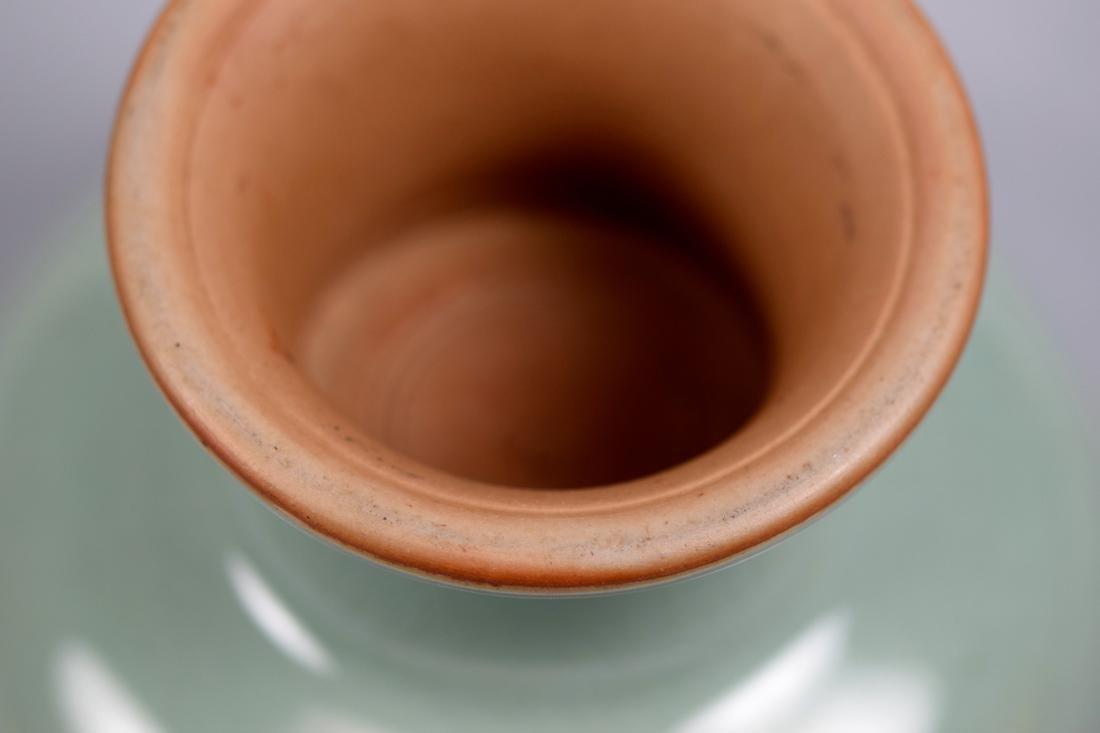 Japanese Celadon Porcelain Stemed Bowl - Makuzo Kozan - 7