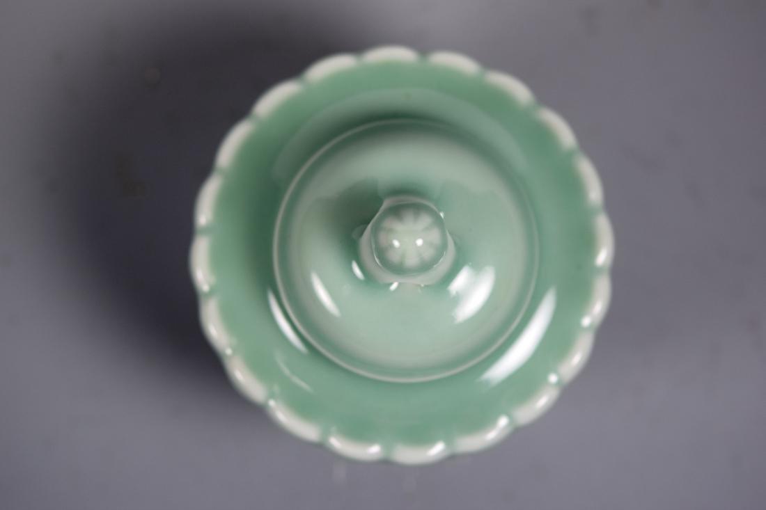 Japanese Celadon Porcelain Covered Censer - Makuzo - 4