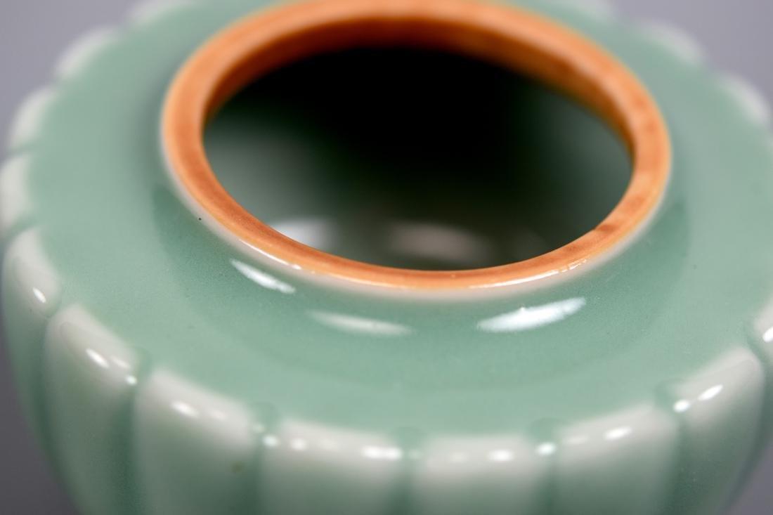 Japanese Celadon Porcelain Covered Censer - Makuzo - 5