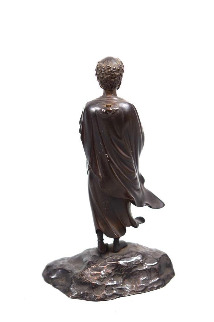Japanese Bronze Damo - 7