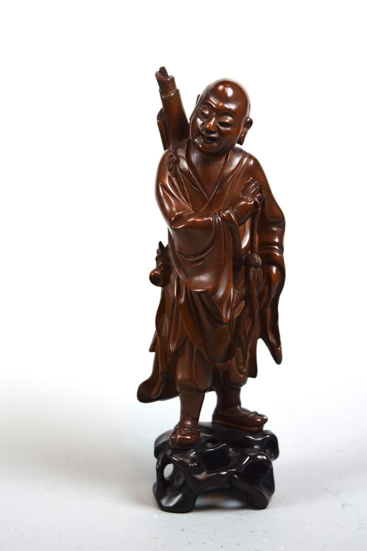 Chinese Boxwood Carving of Standing Immortal