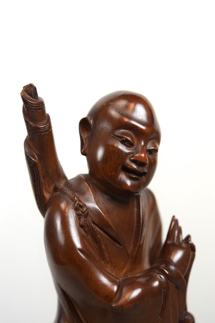 Chinese Boxwood Carving of Standing Immortal - 5