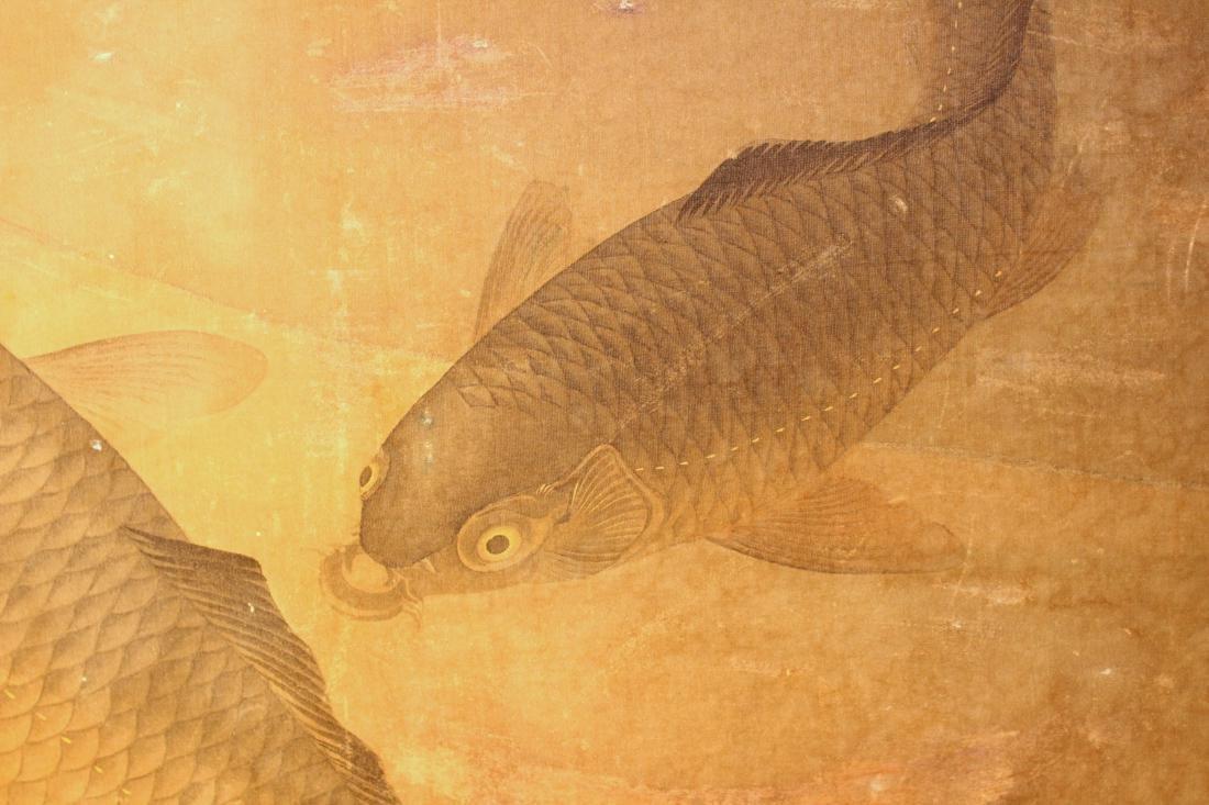 Chinese Painting of Carp - On Silk - 2
