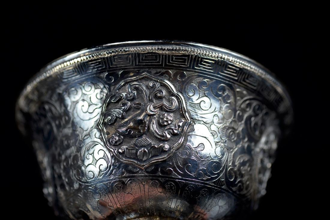 Chinese Silver Cup and Holder Group - 3