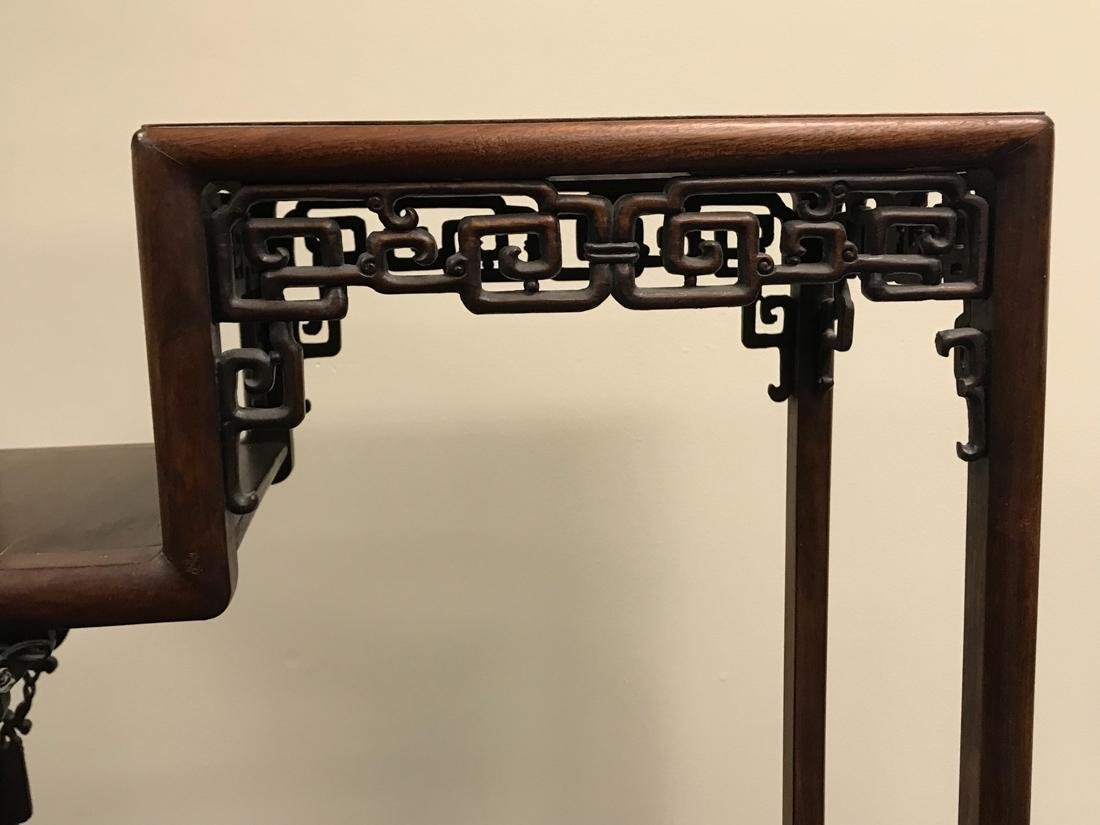 Chinese Hardwood Curio Stand - 5