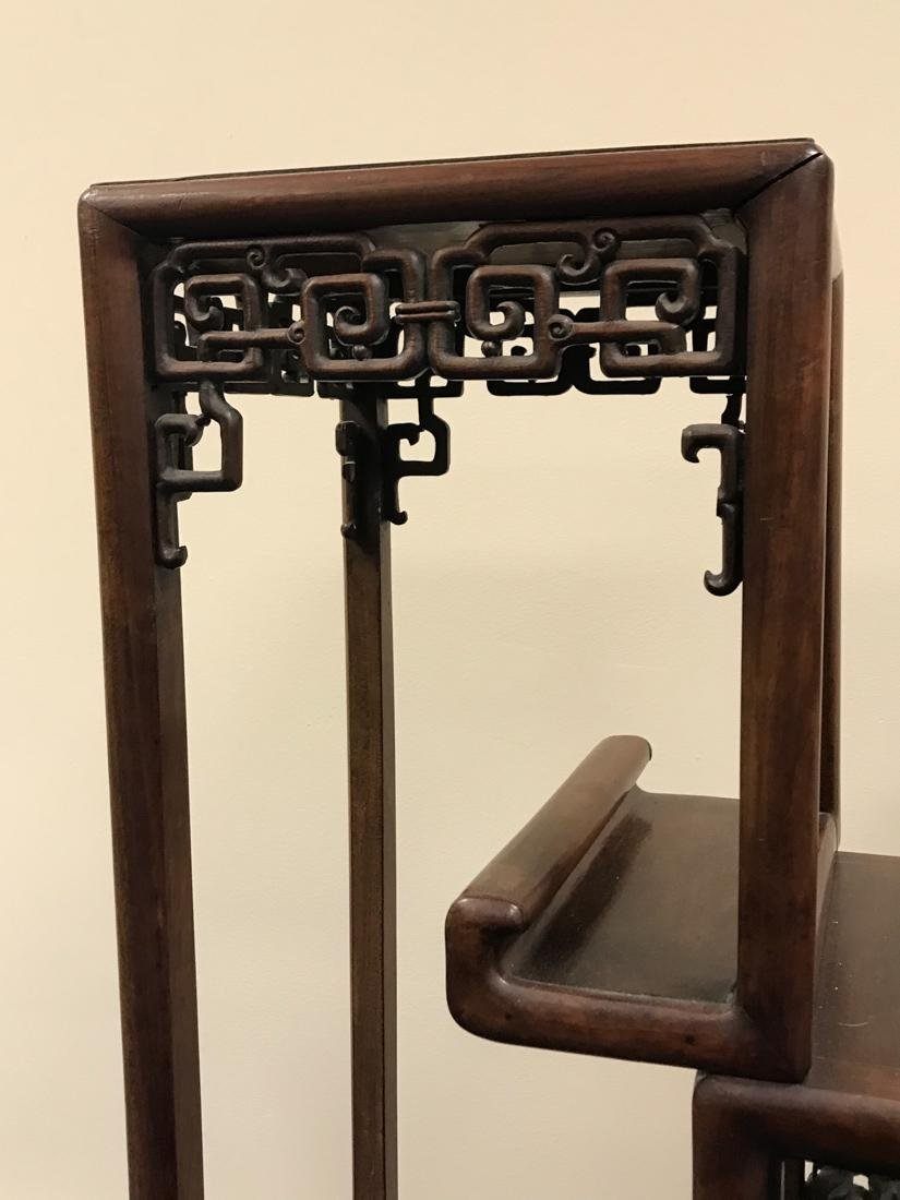 Chinese Hardwood Curio Stand - 6