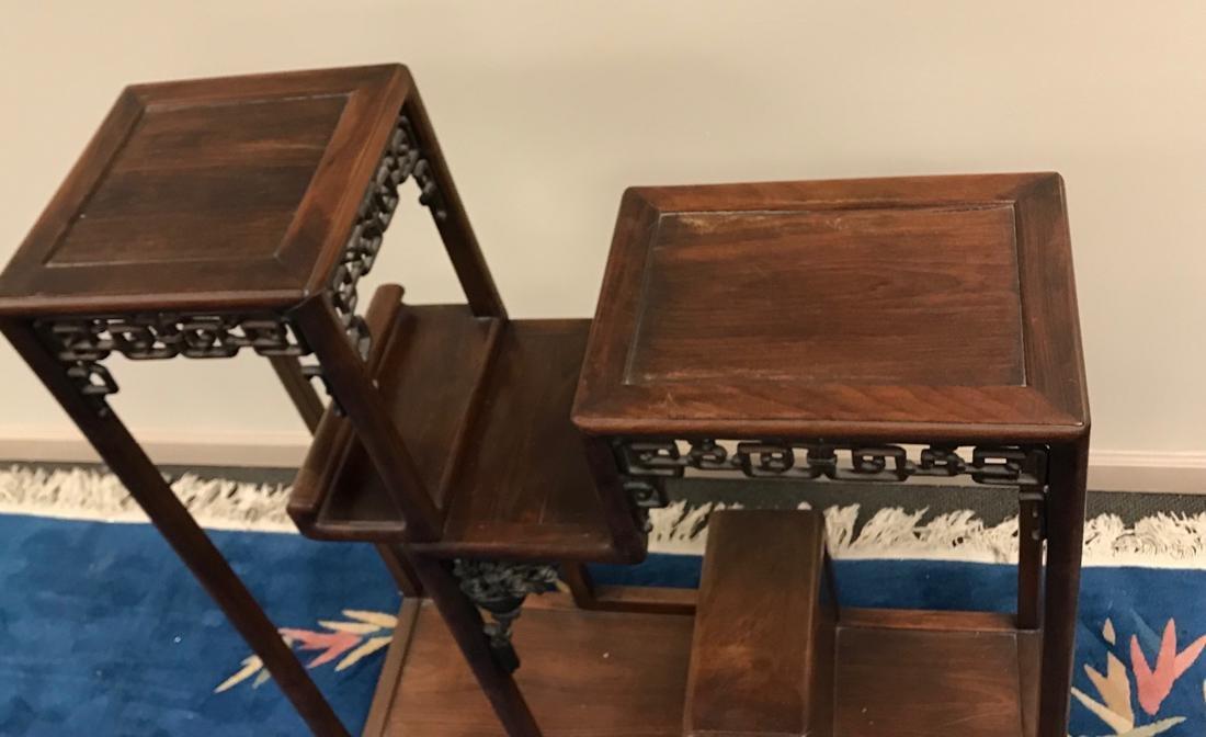 Chinese Hardwood Curio Stand - 9