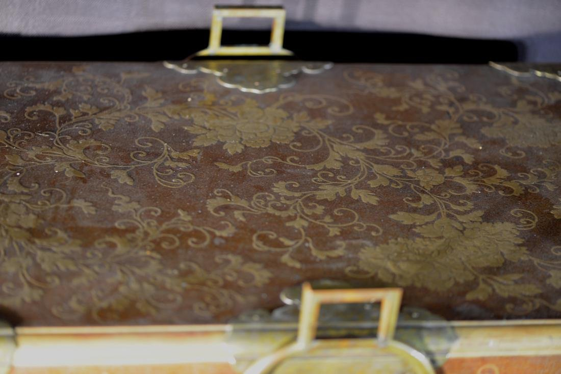 Rare Japanese Lacquer Trunk by Togugawa Familly - 8