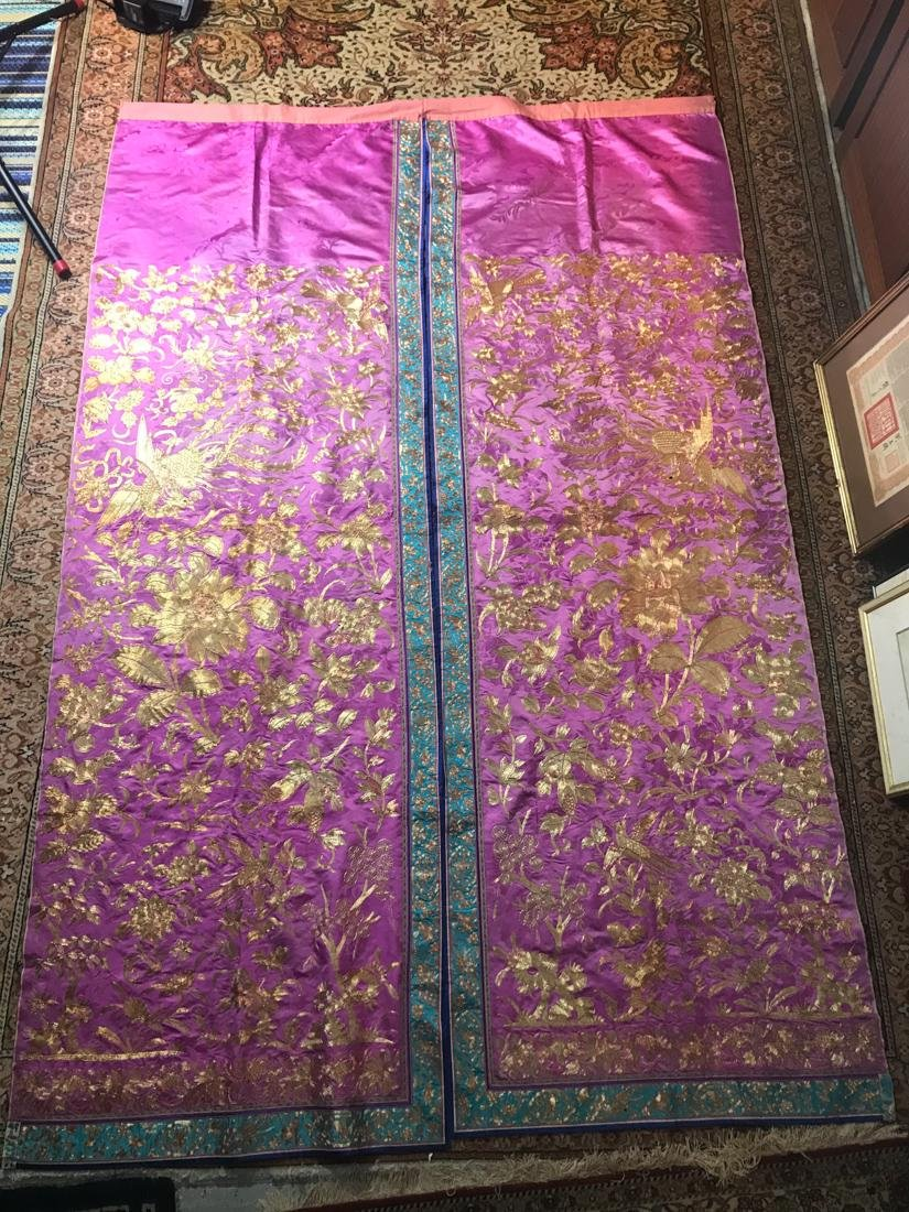 Large Chinese Purple Embroidery