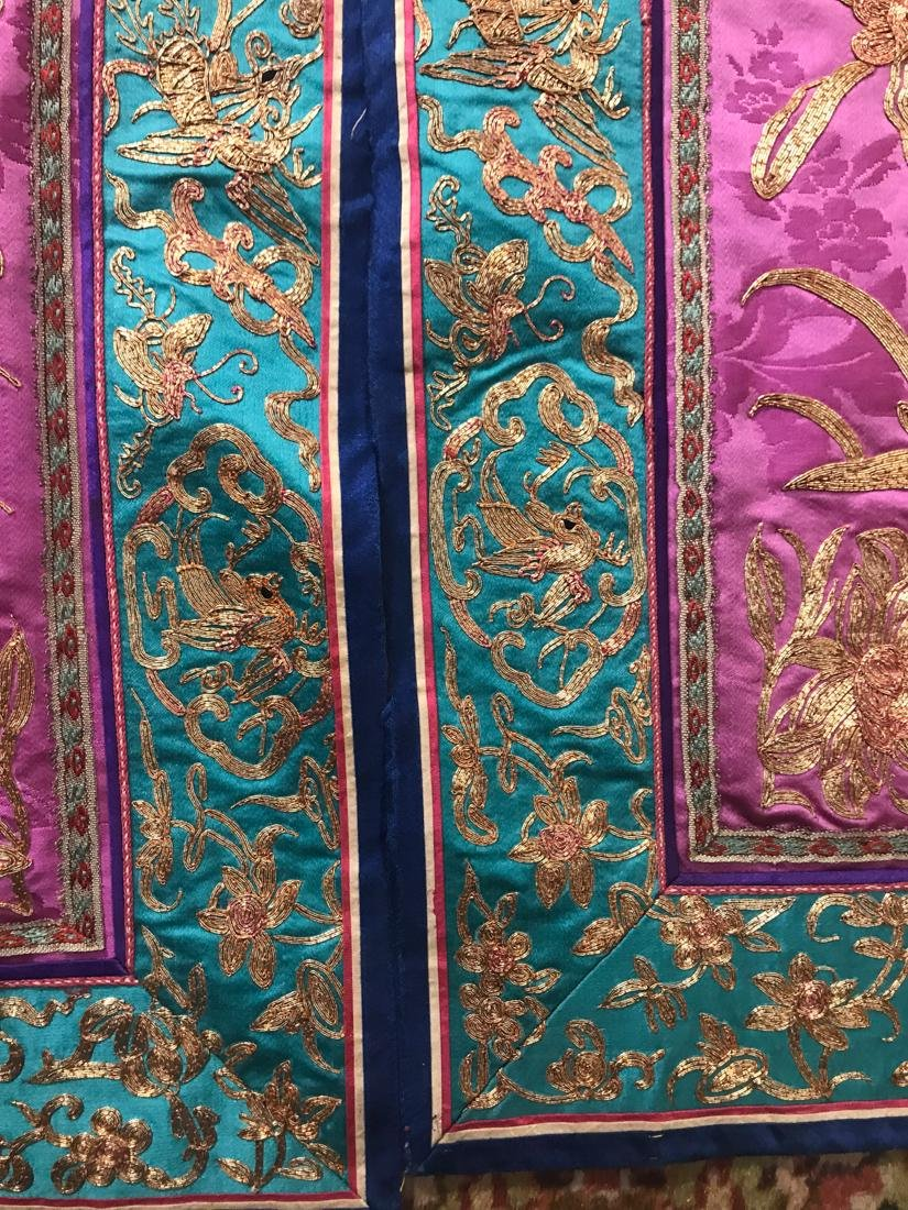 Large Chinese Purple Embroidery - 2