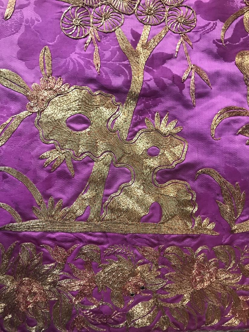 Large Chinese Purple Embroidery - 3