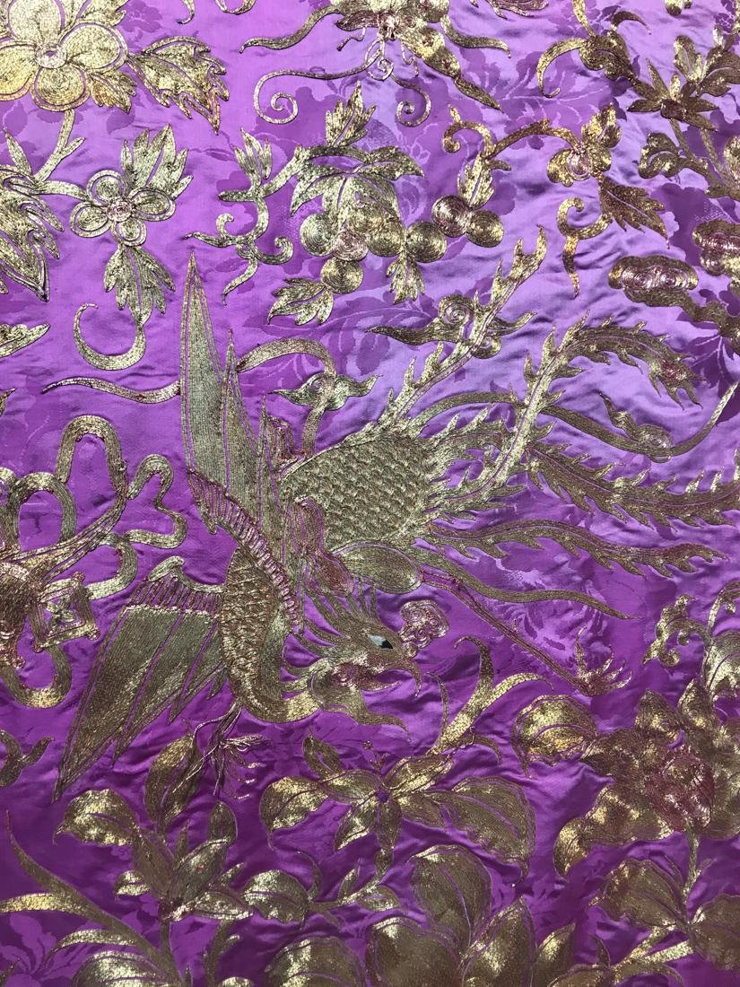 Large Chinese Purple Embroidery - 4