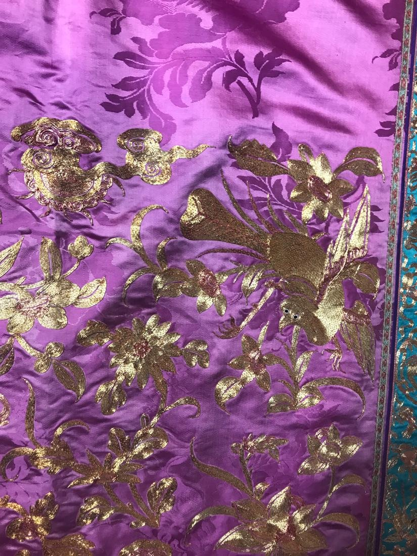 Large Chinese Purple Embroidery - 6
