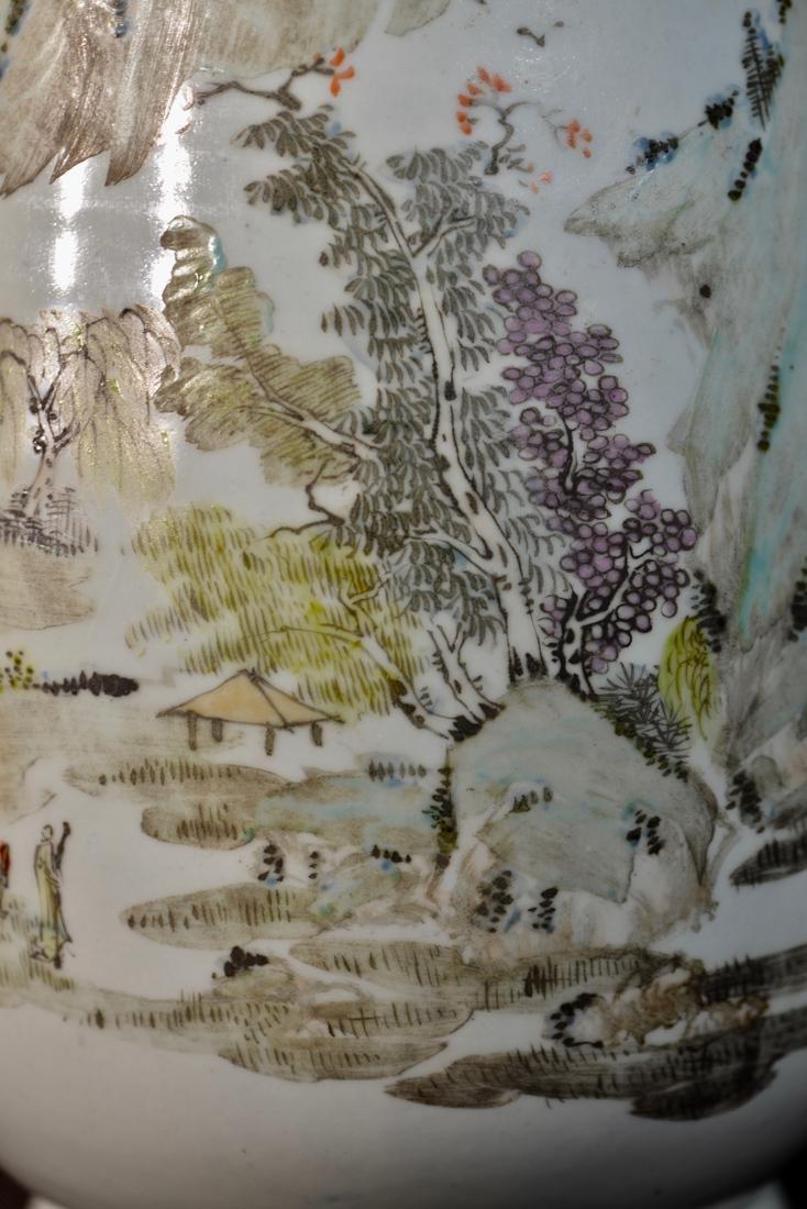Chinese Porcelain Vase with Foolion Mask - Landscape - 2