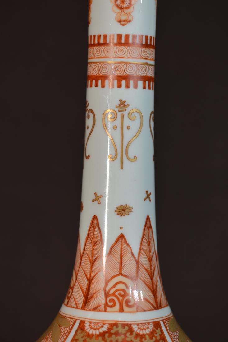 Chinese Long Neck Vase - 4