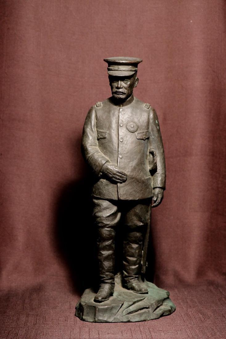 Japanese Bronze Sculpture of a General
