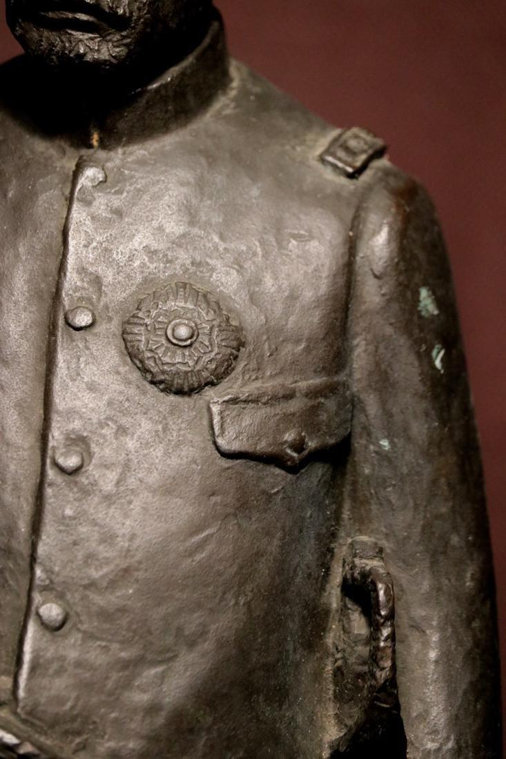 Japanese Bronze Sculpture of a General - 3