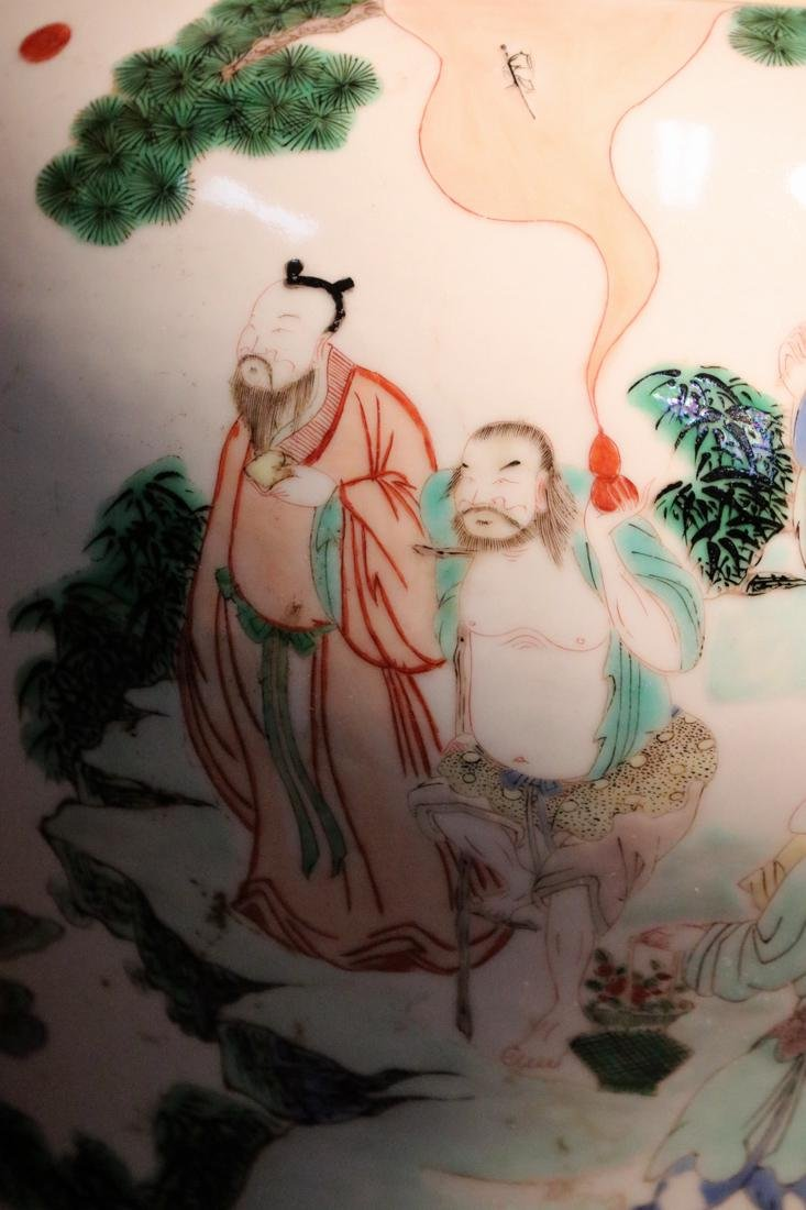 Chinese Famille Verte Porcelain Blauster Jar - 2