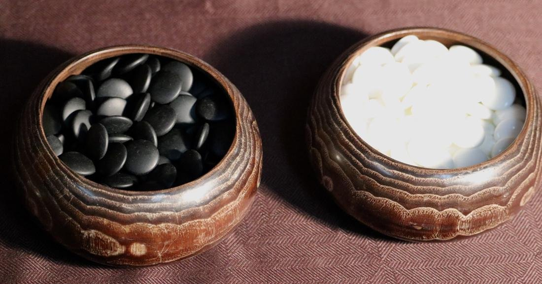 Complete Set of Japanese Wood Container with Go Game - 4