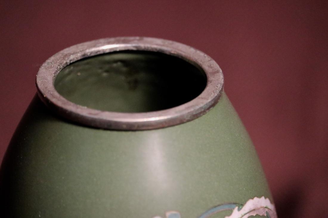 Japanese Cloisonne Vase Pheonix Motif by Inaba - 3