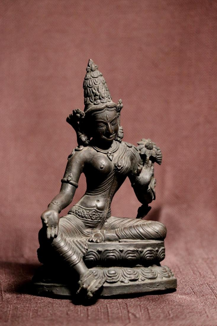 Tibet Nepalese Bronze Seated Tara