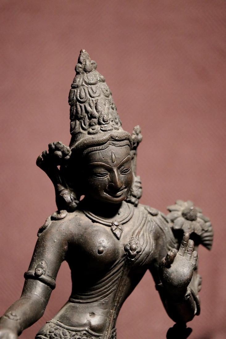 Tibet Nepalese Bronze Seated Tara - 2