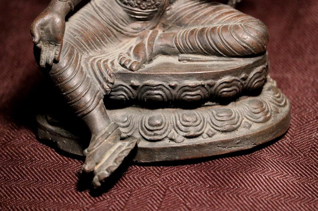 Tibet Nepalese Bronze Seated Tara - 3