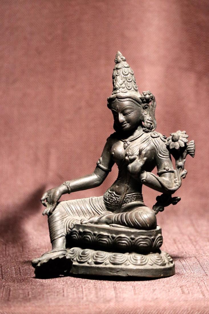 Tibet Nepalese Bronze Seated Tara - 6