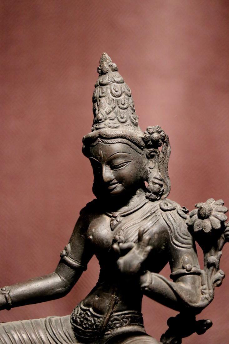 Tibet Nepalese Bronze Seated Tara - 7