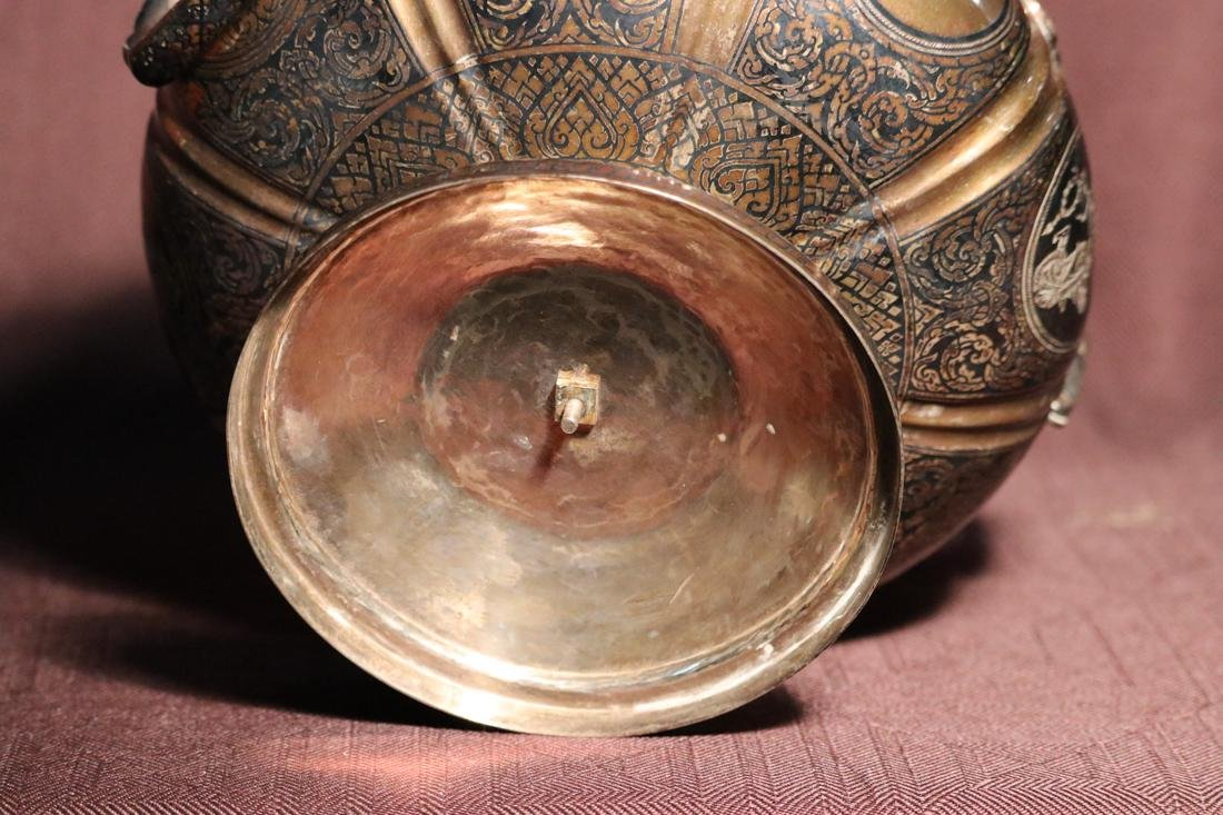 Burmese Silver Bowl with Inlaid Design - Albert - 5